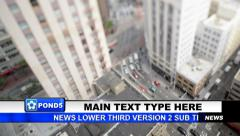 News Lower Third Version 2 - stock after effects