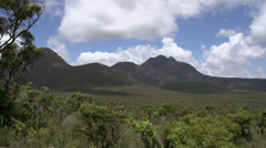 Pan from The Stirling Range landscape, Western Australia Stock Footage