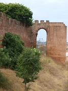 Silves - part of the defensive walls Stock Photos