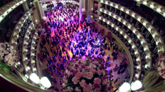 Opera Ball in Vienna, Austria Stock Footage