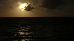 Sunset over beautiful Caribbean Ocean HD 1755 Stock Footage