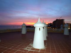 portimao-resort on the atlantic coast of the algarve, portugal - stock photo