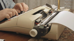 Typewriter angled view 2 Stock Footage