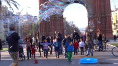 Arc de Triomphe barcelona Stock Footage