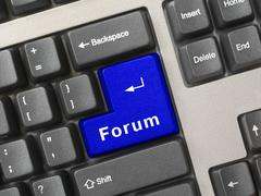 Computer keyboard -  key Forum Stock Photos