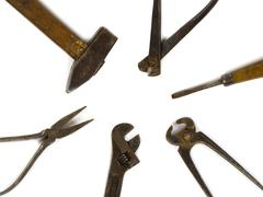 Old DIY tools Stock Photos