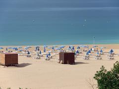 beach of praia da rocha in portimao, algarve - stock photo