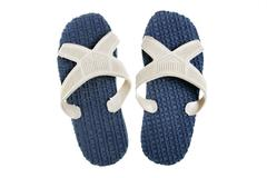 Beach slippers Stock Photos