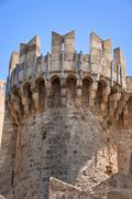 Knights Grand Master Palace in the Medieval town. Stock Photos