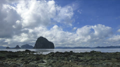Low tide island cloudscape Philippines time lapse Stock Footage