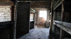 Barrack at Auschwitz Birkenau Stock Footage