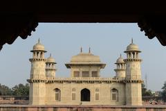 itimad-ud-daulah or baby taj in agra india - stock photo