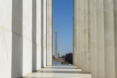 Washington monument and capitol hill Stock Photos