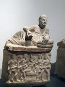 ancient etruscan art. - stock photo