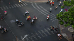 Saigon. City traffic and pedestrians. Stock Footage