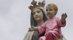 Religious Statue, Sculpture, Christianity, Catholic Stock Footage