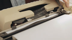 Typewriter dutch angle 2 Stock Footage