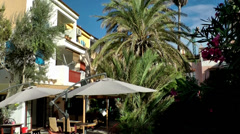 Europe Spain Balearic Ibiza towns and villages 106 c Stock Footage