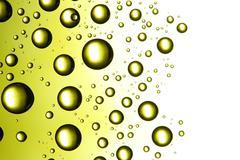 Fantastic green drops - stock photo