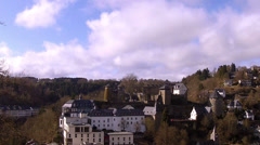View of the small German town Monschau, Time lapse. Stock Footage