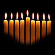 Hanukkah candles Stock Photos