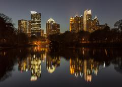 Piedmont park atlanta night Stock Photos