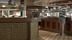 Cruise ship buffet breakfast lunch passenger crew HD 0904 Stock Footage