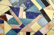 Stock Photo of background of colored mosaic with old tiles.