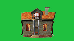 House With Character:  Green Screen + Looping Stock Footage