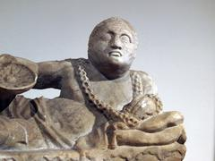 ancient etruscan art - stock photo
