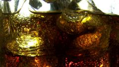 Cola drink bubbles Stock Footage