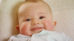 Cute baby boy (5 months old) Stock Footage