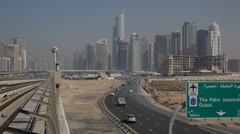 Almas Towers Diamond Supertall Skyscraper Jumeirah Lake Free Zone Dubai Marina - stock footage