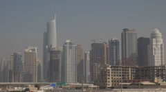 Almas Towers Diamond Skyscraper Dubai Skyline Marina Dome Lake Point Tower UAE Stock Footage