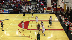 Girls high school basketball shots Stock Footage