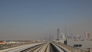 Stock Video Footage of Dubai POV Metro Train Driving Drive World Longest Fully Automated Metro Network