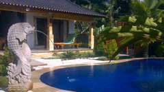 Luxury villa with pool outdoor Stock Footage
