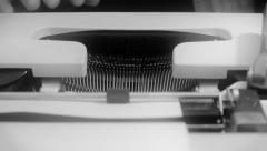 Typewriter front view noir 1 Stock Footage