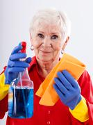 Stock Photo of cleaning house