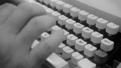 Typewriter keys detail noir Stock Footage