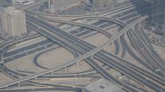 Rush Hour Dubai Highway Freeway Sheikh Zayed Road Busy City Cars Traffic Jam UAE Stock Footage