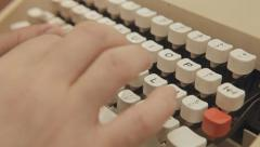Typewriter keys detail Stock Footage