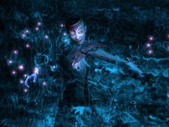fantasy character wizard - stock photo