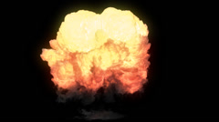 Explosion with Fire and Smoke Alpha Channel - stock footage