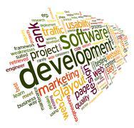 Ohjelmistokehitystä käsite tag cloud Piirros