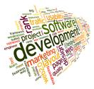 Stock Illustration of software development concept in tag cloud