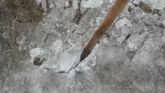 Breaking up ice. - stock footage