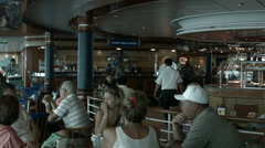 Cruise ship buffet passengers crew HD BM 0907 Stock Footage
