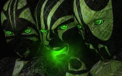 cyborg assassins - stock photo