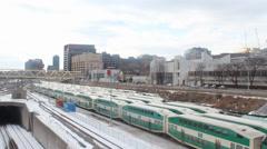 GO Train & Traffic Stock Footage